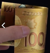 24K REAL GOLD Canadian $100 Bills!!! GREAT Gift Or Over 20 Available Toronto, M6A 2T9
