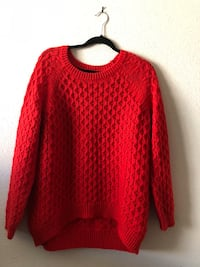 red knitted scoop-neck sweater Austin, 78751