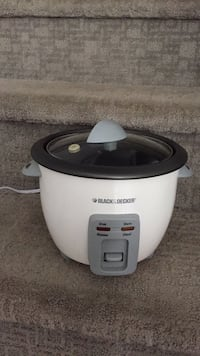 white and black Rival slow cooker Langley, V3A