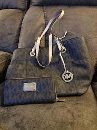blue and brown Michael Kors leather tote bag Manchester, 03103