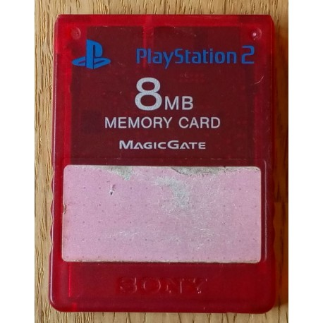 Playstation 2 - Sony 8 MB Memory Card Magic Gate (rødt) Horten