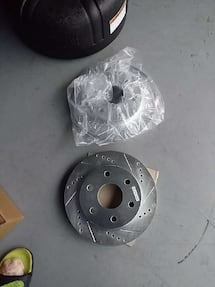 Slotted and drilled rotors for 2005 silverado 4wd