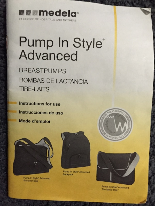 Used Medela Pump In Style Advanced Breast Pump With The Metro Bag