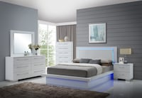 Valentino LED Gloss White Bedroom Collection **($40 Down to Finance)** Charlotte, 28216
