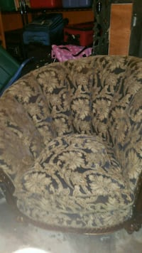 brown and black floral fabric sofa chair Bowie, 20720