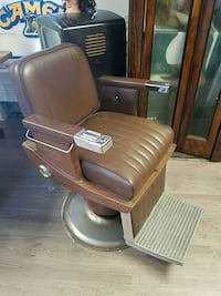 Vintage Brown Leather Barber Salon Chair Lakewood Township, 08701