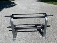 2 tier dumbbell rack with plate storage