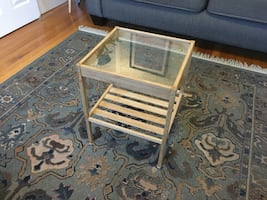 Wood / Glass Side Table