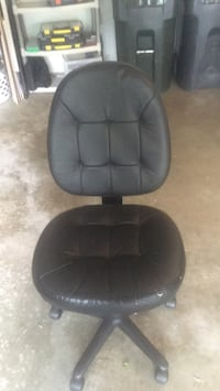 black leather padded rolling armchair Vienna, 22182