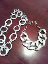 2layer silver necklace