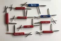 Lot of 9 Swiss Army & Wenger Small Pocket/key Knives - Some w/ Brands 3128 km