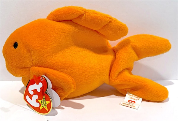 Ty Beanie Baby GOLDIE the Fish PVC Version