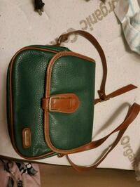 green and brown leather crossbody bag Mississauga, L5A 3P8