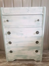 Rustic blue and white waterfall dresser Oregon City, 97045