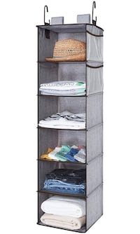 Hanging Closet Organizer, 2 Ways Dorm Closet Organizers and Storage