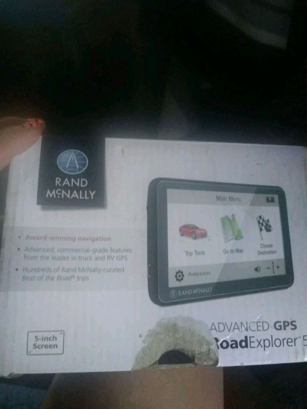 Rand Mcnally Gps >> Black Rand Mcnally Gps Navigator Box