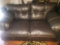 Brand new Expresso leather love seat Houston, 77090