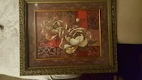 brown wooden framed painting of flowers Dallas, 75243