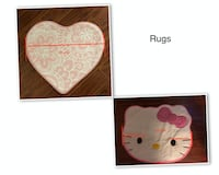 Rugs: Round,Heart shaped,Hello Kitty Face  1.Round: 80 cm Round Anti-slip Rug.....$15  2.Rectangle: 60x40 cm.....$10  3.Heart shaped&Hello Kitty Face(Used)......2 for $10  4.Red Rug: 80x40 cm...... $5 Markham