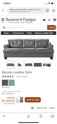 Leather sofa n loveseat Chester, 23836