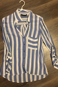Zara Blue Striped Shirt(M) Toronto, M4P 1Y5