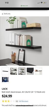 Lack Black-Brown Shelf's Bradford, L3Z 2W1
