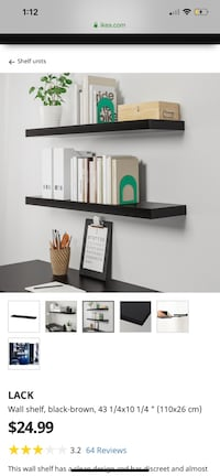 Lack Black-Brown Shelf's