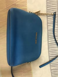 blue leather Michael Kors crossbody bag Hong Kong