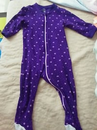 Baby's purple and white footie pajama Toronto, M3A 1V2