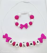 Customize baby / kid necklace and bracelet set accessories