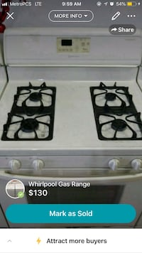 Ten Gas Ranges, All Working,All Whirlpool New Haven, 46774