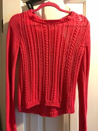 Red scoop-neck sweater Wake Forest, 27587
