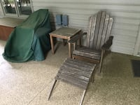 Teak Adirondack chairs and Ottomans (2 ea) Vonore