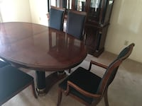 Stanley dining set with a beautiful beveled glass doors,seating for six, with two leafs.Dont pass this up, original price was $4.000-$5.000. Hudson, 44236