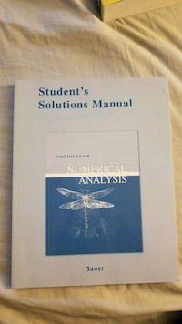 Student's Solutions Manual: Numerical Analysis  Annandale, 22003