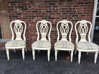 Solid wood upholstery dining chairs