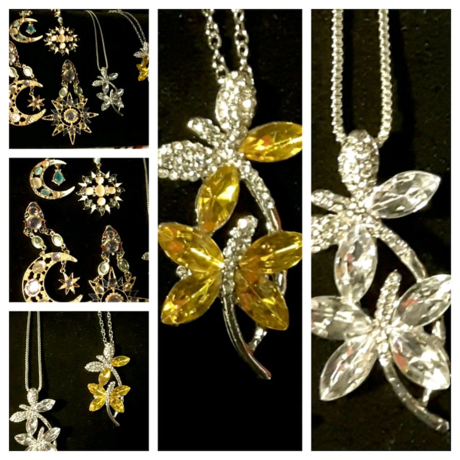 Dragonfly Necklaces & moon & stars earrings. 12$-18$