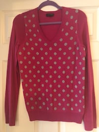 red and black polka dot long-sleeved shirt Fairfax