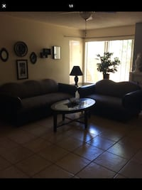 black leather 3-seat sofa Moreno Valley, 92557