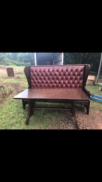 brown wooden table with chair Edmond, 73034