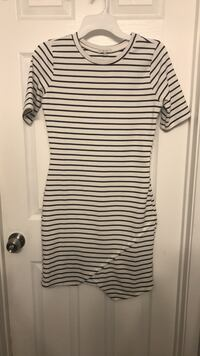 white and black stripe scoop-neck dress 1293 mi