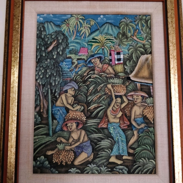 Traditional Balinese Paintings, gold wood frame be2aa23d-b3a3-4ffb-88b3-8b167e428e36
