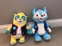 Disney jr - Special Agent Oso and Wolfie Plush Set- from Disney Store  -Very good condition