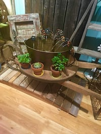 One of a Kind Indoor Fountain made with Antiques Parts / Upcycled / Handcrafted  2291 mi
