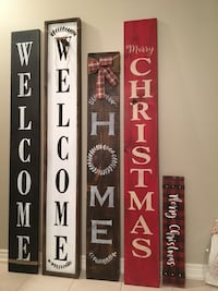 6ft 9 inch's wood sign reversible 70.00$ Essa, L0M