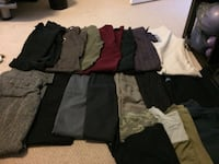 15 pairs of women's dress pants/ workout pants ($15 for all)