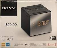 Sony am/fm alarm clocks Black or White Toronto, M4A 2K7