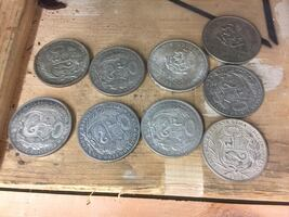 Antique Peruvian and Mexican silver coins
