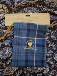 red, blue and black plaid SeaMus Golf Co drawstring pouch Butler, 07405