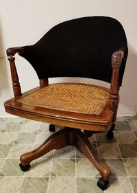 Vintage Sikes Cane Seat Banker Office Chair Dunmore